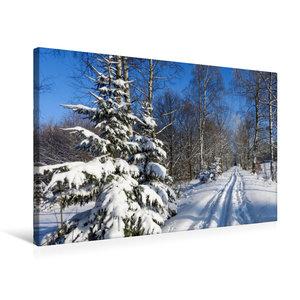 Premium Textil-Leinwand 75 cm x 50 cm quer Winter im Erzgebirge