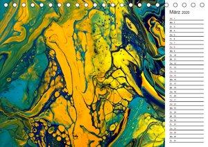 Abstract World - abstrakte Kunst in Acrylfließtechnik (Tischkale
