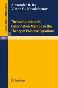 The Isomonodromic Deformation Method in the Theory of Painleve E