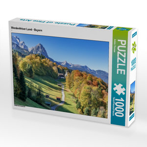 CALVENDO Puzzle Werdenfelser Land - Bayern 1000 Teile Lege-Größe