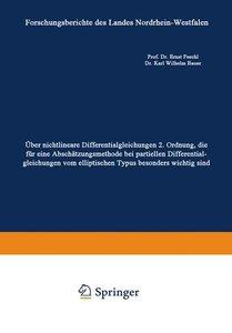 Über nichtlineare Differentialgleichungen 2. Ordnung, die für ei