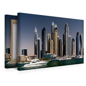 Premium Textil-Leinwand 45 cm x 30 cm quer Dubai Marina - Blick
