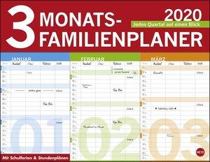 3-Monats-Familienplaner Kalender 2020