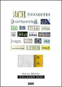 Herta Müller: Collagen 2020 - Poster-Kalender - Format 49,5 x 68