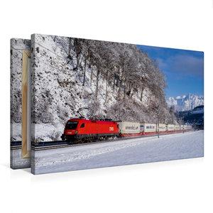 Premium Textil-Leinwand 75 cm x 50 cm quer EKOL-KLV im Schnee