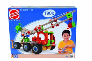 Heros 100039039 - Constructor Kranwagen, 190-teilig