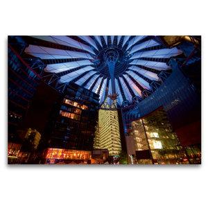 Premium Textil-Leinwand 120 cm x 80 cm quer Sony Center / Berlin