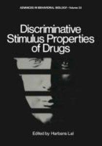 Discriminative Stimulus Properties of Drugs
