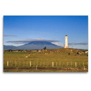 Premium Textil-Leinwand 120 cm x 80 cm quer Cape Egmont Lighthou