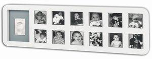 1st Year Print Frame, Rund, White & Grey