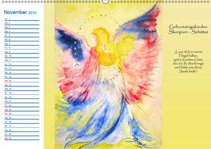 Engelhafter Geburtstagskalender (Wandkalender 2019 DIN A2 quer)