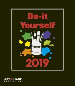 Do-it-yourself Bastelkalender 2019 klein. Bastelpapier schwarz