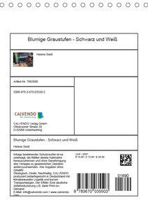 Blumige Graustufen - Schwarz und Weiß (Tischkalender 2019 DIN A5