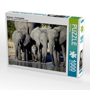 CALVENDO Puzzle Elefanten ? Familienglück 1000 Teile Lege-Größe