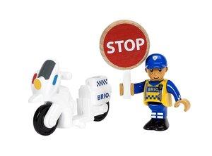 BRIO 33861000 Motorrad-Polizist