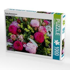 Bunter Blumenstrauss 1000 Teile Puzzle quer