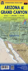 Grand Canyon 1:90 000 and Arizona Travel Reference Map 1:1 000 0