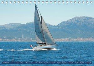 Segel, Wind und Wellen (Tischkalender 2018 DIN A5 quer)