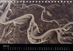 Flusslandschaften Islands aus der Luft (Tischkalender 2019 DIN A