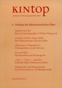 KINtop. Jahrbuch zur Erforschung des frühen Films / Anfänge des