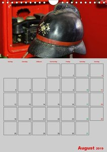 Alte Feuerwehrhelme - Terminplaner (Wandkalender 2019 DIN A4 hoc