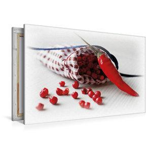 Premium Textil-Leinwand 120 cm x 80 cm quer Pfeffer Säckchen