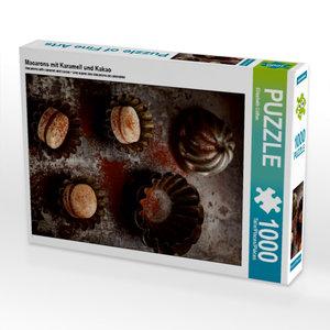 Macarons mit Karamell und Kakao 1000 Teile Puzzle hoch
