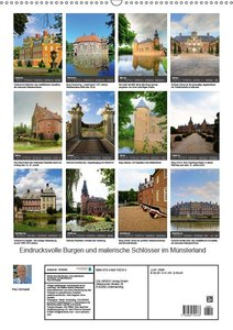 Eindrucksvolle Burgen, malerische Schlösser im Münsterland (Wand