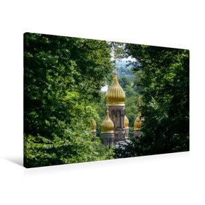 Premium Textil-Leinwand 90 cm x 60 cm quer Kuppeln der russisch-