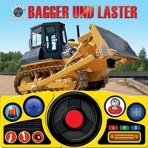 Lenkradbuch Baustelle: Bagger und Laster
