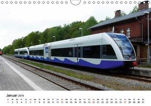 Eisenbahnen auf Usedom (Wandkalender 2019 DIN A4 quer)