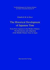 The Historical Development of Japanese Tone