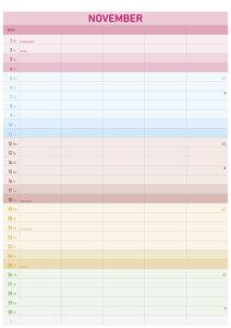 Familienplaner Farbenfroh 2018 - Bildkalender