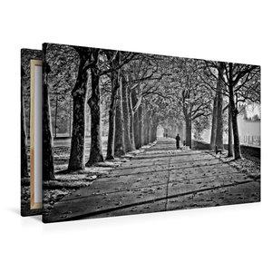 Premium Textil-Leinwand 120 cm x 80 cm quer Herbstimpression an