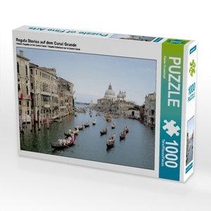 Regata Storica auf dem Canal Grande 1000 Teile Puzzle quer
