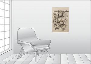 Premium Textil-Leinwand 50 cm x 75 cm hoch Nutztiere