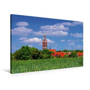 Premium Textil-Leinwand 90 cm x 60 cm quer Kirche St. Petri