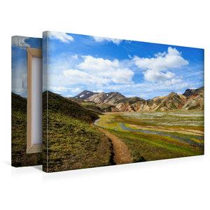 Premium Textil-Leinwand 45 cm x 30 cm quer Laugarvegur-Trail Isl