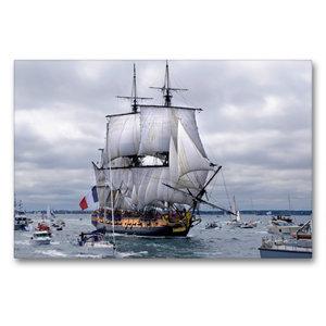 Premium Textil-Leinwand 90 cm x 60 cm quer Het fregat Hermione i