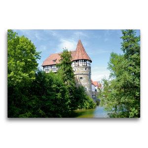 Premium Textil-Leinwand 75 cm x 50 cm quer Zollernschloss Baling