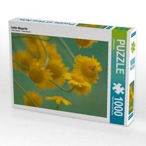 Gelbe Magerite 1000 Teile Puzzle quer