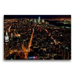 Premium Textil-Leinwand 75 cm x 50 cm quer Manhattan South / New