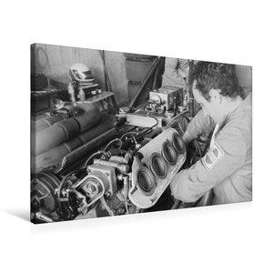 Premium Textil-Leinwand 75 cm x 50 cm quer Montage