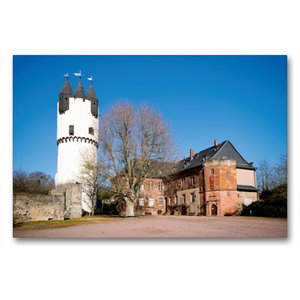 Premium Textil-Leinwand 90 cm x 60 cm quer Schloss Steinheim, Ha
