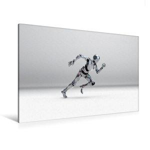 Premium Textil-Leinwand 120 cm x 80 cm quer Roboter