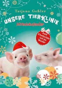 Unsere Tierklinik: Adventskalender. Zwei Schweinchen und ein Wun