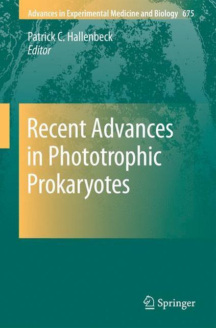Recent Advances in Phototrophic Prokaryotes - zum Schließen ins Bild klicken