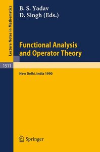 Functional Analysis and Operator Theory