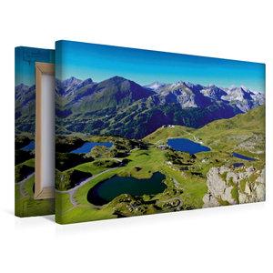 Premium Textil-Leinwand 45 cm x 30 cm quer Seenparadies