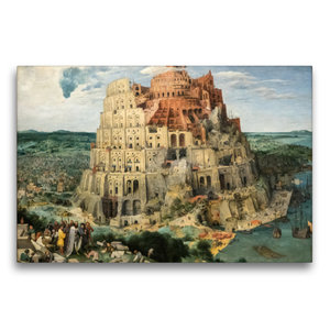 Premium Textil-Leinwand 75 cm x 50 cm quer Turmbau zu Babel - 15